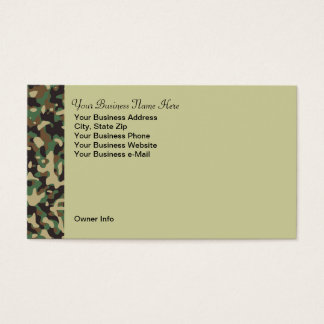 Personalized Hunting Theme Camo Business Card