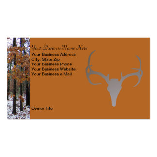 Personalized Hunting Theme Camo Deer Business Card