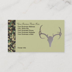 Hunting business cards templates zazzle personalized hunting theme camo deer business card colourmoves