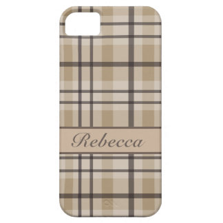Personalized hurricane and sandrift  plaid pattern iPhone 5 case