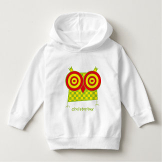 Personalized Hypno Owl Toddler Pullover Hoodie