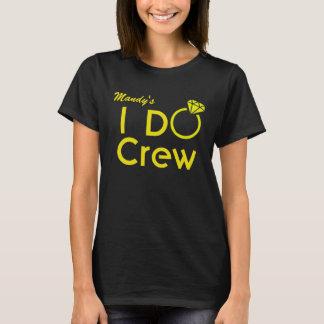 Personalized I Do Crew Bridesmaid Shirt