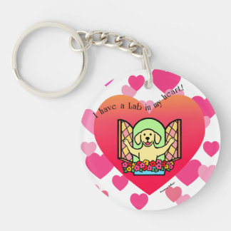 Personalized I have a Lab in my Heart (Yellow) Keychain