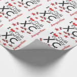 Personalized I heart Cross Country Running XC Wrapping Paper