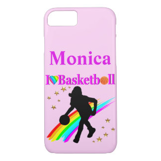 PERSONALIZED I LOVE BASKETBALL IPHONE CASE