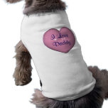 Personalized I Love Daddy Cute Dog T-Shirt