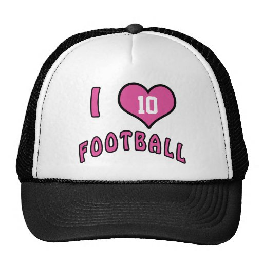 Personalized I Love Football Caps for Women Hats