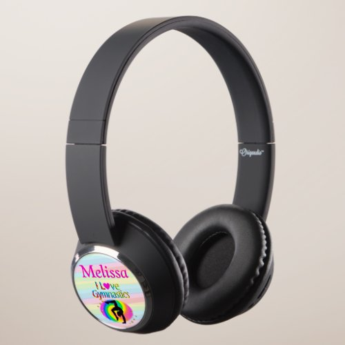 PERSONALIZED I LOVE GYMNASTICS HEADPHONES