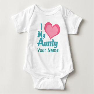 Personalized I Love My Aunty T-shirt