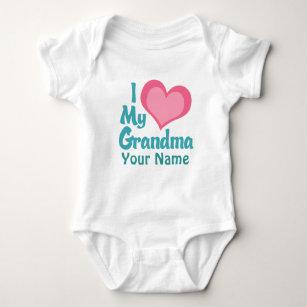 9fb37f7671 Personalized I Love My Grandma Baby Bodysuit