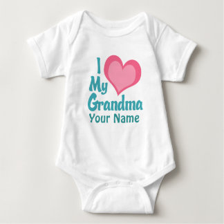 Personalized I Love My Grandma Baby Bodysuit