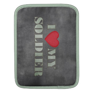 Personalized I love my soldier Sleeve For iPads