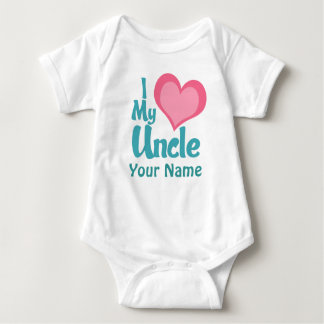 Personalized I Love My Uncle Baby Bodysuit