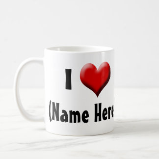 Personalized I Love... Name Valentine's Day Coffee Mug