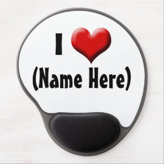 Personalized I Love... Name Valentine's Day Gel Mouse Pad