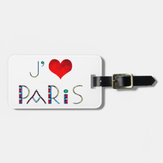 Personalized I Love Paris Notre Dame Stained Glass Bag Tag