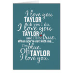 Personalized I Love You Greeting Card