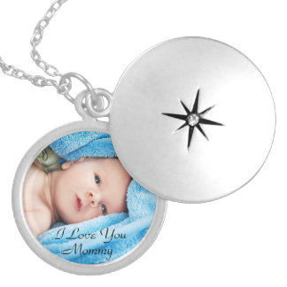 "Personalized ""I Love You Mommy"" Photo Necklace Jewelry"