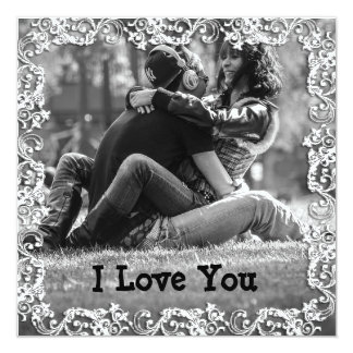 "Personalized  ""I Love You"" Tribal Border Card"