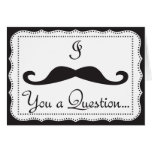 PERSONALIZED, I Mustache You (for the ladies)* Greeting Cards