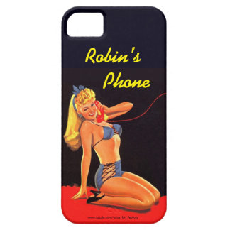 Personalized I-Phone Case with Retro Pinup Girl