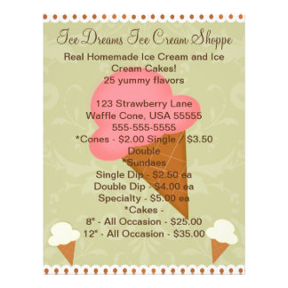 Personalized Ice Cream Shop Business Flyer