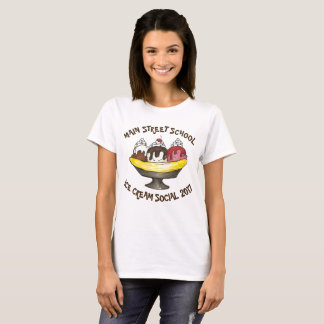 Personalized Ice Cream Social Party Banana Split T-Shirt