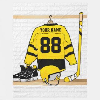 Personalized Ice Hockey Gift Fleece Blanket