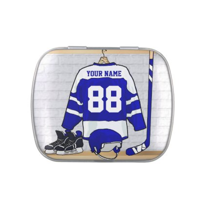 Personalized Ice Hockey Jersey Jelly Belly Candy Tins