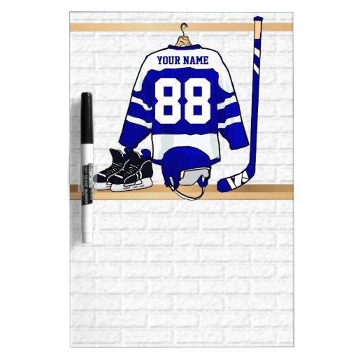 Personalized Ice Hockey Jersey Dry-Erase Board