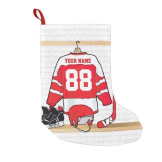 Personalized Ice Hockey Jersey Small Christmas Stocking