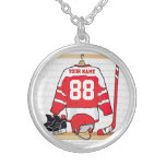 Personalized Ice Hockey Jersey Necklaces
