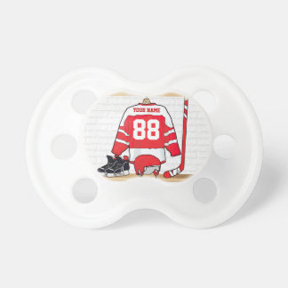 Personalized Ice Hockey Jersey Pacifier