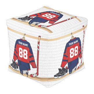 Personalized Ice Hockey Jersey Pouf