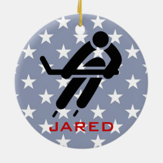 Personalized Ice Hockey Ornament
