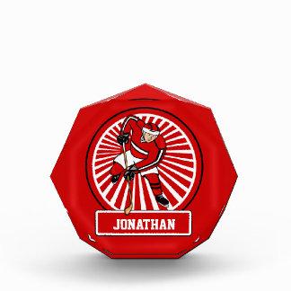 Personalized Ice Hockey player Acrylic Award
