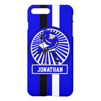 Personalized Ice Hockey Player Blue iPhone 7 Plus Case