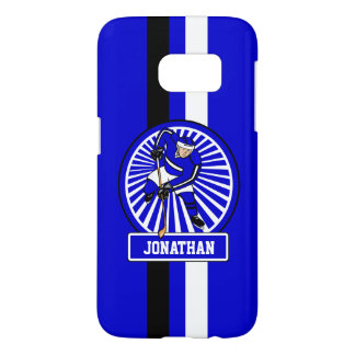 Personalized Ice Hockey Player Blue Samsung Galaxy S7 Case