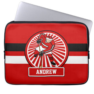 Personalized Ice Hockey Player Computer Sleeves