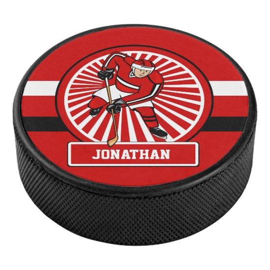 Personalized Ice Hockey player Hockey Puck