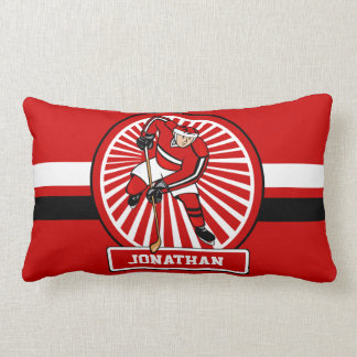 Personalized Ice Hockey player Lumbar Pillow