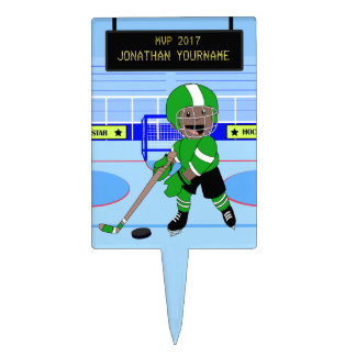 Personalized Ice Hockey star Cake Topper