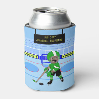Personalized Ice Hockey star Can Cooler