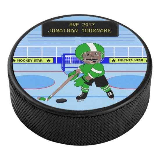 Personalized Ice Hockey star Hockey Puck