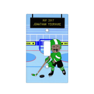 Personalized Ice Hockey star Light Switch Cover