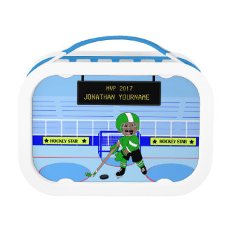 Personalized Ice Hockey star Lunch Box