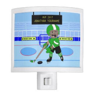 Personalized Ice Hockey star Night Light