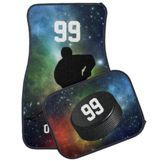 Personalized Ice Hockey Themed Car Mats