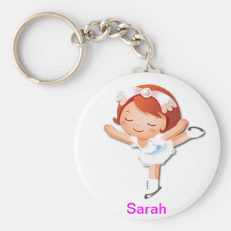 Personalized Ice Skating Gifts Keychain