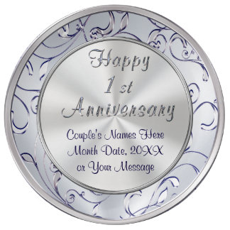 Personalized Ideas for One Year Anniversary, Wife Plate